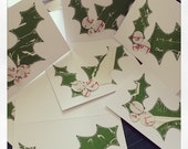 Set of Three Christmas Holly Cards