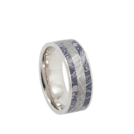 Items Similar To Mens Platinum Ring With Mokume Gane And