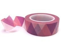 Pink & Purple Triangles Washi Tape - Pink Washi Tape Roll - Purple Washi Tape - Geometric Washi Tape - Pink Masking Tape