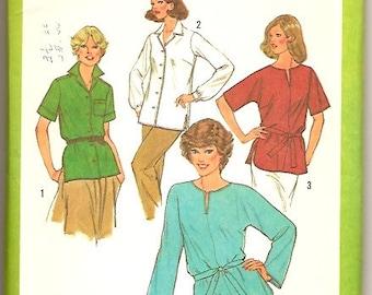 Simplicity 9049 Vintage 70s Tunic Boho Top Sewing Pattern Plus Size G 40 42 44 UNCUT
