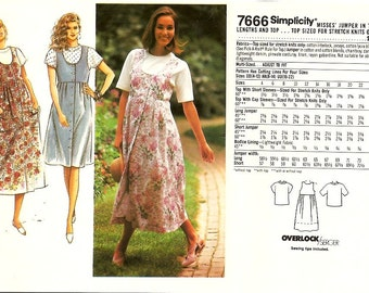 Simplicity 7666 Misses Jumper Top Sewing Pattern Size 16 18 20 22 UNCUT
