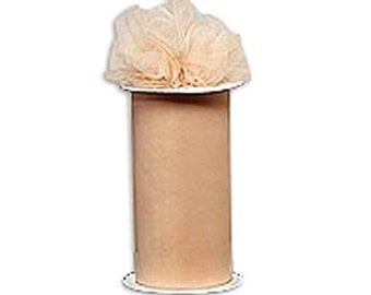 54 x 50 yd  Bolt of Top Quality Made In The USA Tulle Bolt -- BEIGE