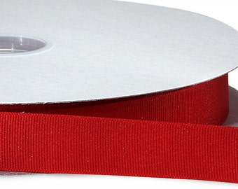 """3"""" x 100 yards Solid Grosgrain Ribbon-  Red"""