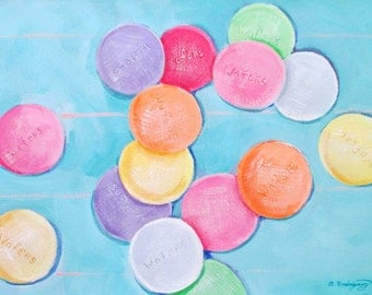 Original Painting * CANDY WAFERS * Art by Rodriguez* Candy Painting * Wall Hanging