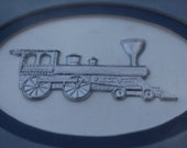 Silver Locomotive Reed Pewter Framed