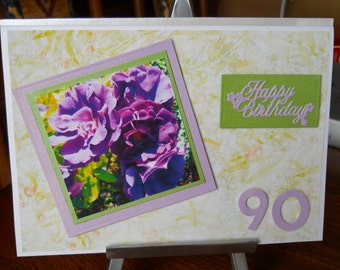 lovely 90th birthday card for a lady
