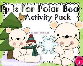 PRINTABLE P is for Polar Bear Alphabet Activity Pack Toddler Preschool Letter of the Week