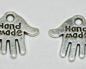 Hade Made, Pewter Tag, Hypoallergenic, 13mm x 11mm 40 pcs MPP598