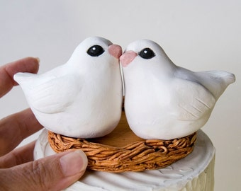 White Dove Wedding Cake Topper, Heirloom, Keepsake