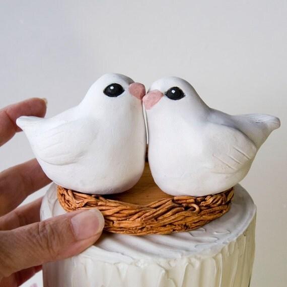 White Dove Wedding Cake Topper, Heirloom, Keepsake