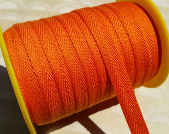 """Orange Twill Tape Trim - Sewing Banners Bunting Shipping Packaging - 3/8"""" - 10 Yards"""