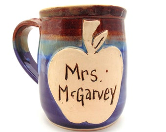Teacher Handmade Pottery Mug by Jewel Pottery Cup Each one Unique