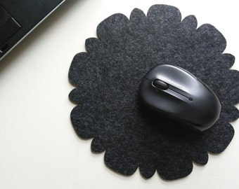 Felt Mouse Pad, Home and Travel, Modern, Felt/Floral.