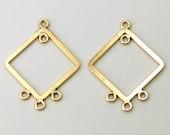 FINAL SALE One Pair 14K Gold Fill Diamond Shape Chandelier Earring Findings