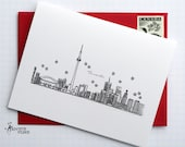 Toronto, Ontario - Canada - City Skyline Series - Folded Cards (6)