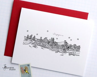 Singapore - Asia/Pacific - City Skyline Series - Folded Cards (6)