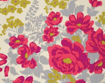 Joel Dewberry Fabric by the Yard - Flora - Rose Bouquet in Poppy - Quilter's Cotton