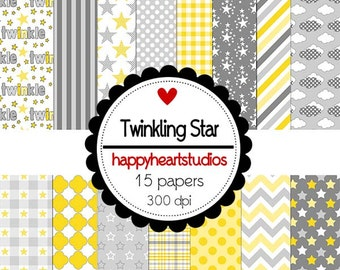 Digital Scrapbook  TwinklingStar -INSTANT DOWNLOAD