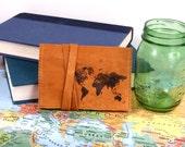 Leather Passport Wallet - Handmade Wallet - Passport Case - Custom - Monogram - Personlize