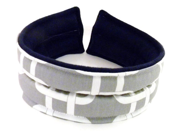 Headband Microwave Heat Pack Cold Pack, TMJ Area, Head Heating Pad Ice Pack, gray grey white