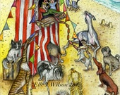 Dog Art Print- The Punch and Judy Show