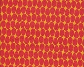 Andover Fabrics Frippery Eggs in Red and Gold - Half Yard