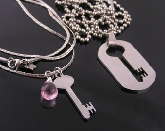 His And Hers Broken Heart Necklace