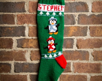 Disneys mickey mouse christmas stocking kit mickey mouse penguins pattern personalized christmas stockings personalized stockings knit christmas stocking pattern knitted christmas stocking solutioingenieria Images