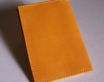 Top-Stub Checkbook Holder - Yellow Leather Checkbook Cover