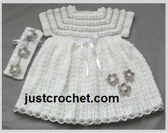 Dress and Headband Baby Crochet Pattern (DOWNLOAD) 115