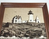 Vintage hand painted scene on pure line with wooden frame black and white