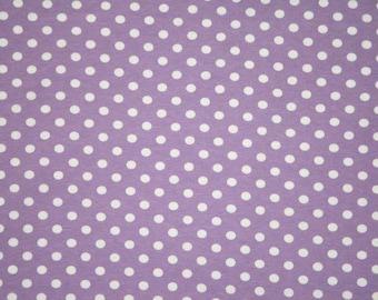 Violet small dots 1 yard knit spandex
