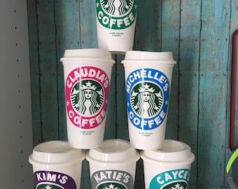 Starbucks personalized coffee cup, Starbucks cup, personalized coffee cup, personalized coffee mug, reusable coffee mug, reusable coffee cup