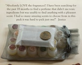 Twenty All Natural Botanical Solid Perfume Sample Set, Fun olfactory adventure experience gift set