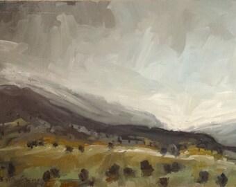 Fog Over Maple Mountain | Original Oil Painting | 6.25 x 9