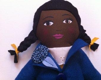 Fabric Doll Custom Handpainted Heirloom Doll