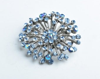 Crystal Brooch,45mm Brooch Light Sapphire G345.32