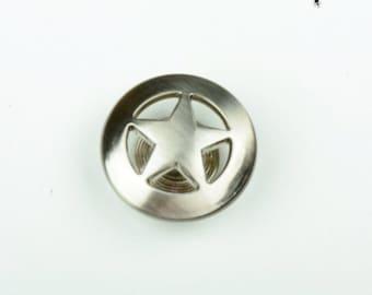 Silver Lone Star Conco screw back , 2 each OE0909P