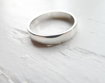 Sterling Silver Rings for Stamping 4mm Finger Ring Size 7 (M1)