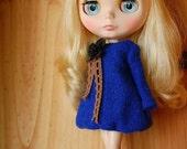 Blythe bubble sweater ....blue