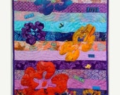 Quilt Festival Sale Swimming Upstream (Number 1), 16 x 31 inch art quilt