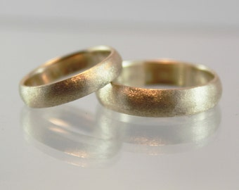 Satin Finish Wedding Band -14 kt Yellow Gold - 5 mm width/1.5 mm thickness - Beautiful Satin Finish - Custom Engraving Inside