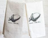 acorn tea towel