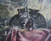 Antique Postcard. From my album Cats and Kittens. 1900 era