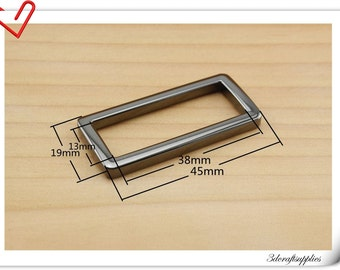 1.5 (1 1/2) inch (inner diameter) Gunmetal rectangle alloy buckles 10pcs 3mm thickness U39