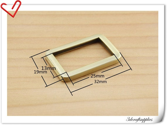 1 inch (inner diameter) Anti brass rectangle ring alloy buckles 10pcs 3mm thickness U73
