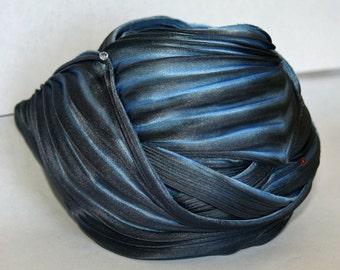 Shibori Girls Hand Dyed Silk Ribbon Fading Denim Shibori Silk Ribbon