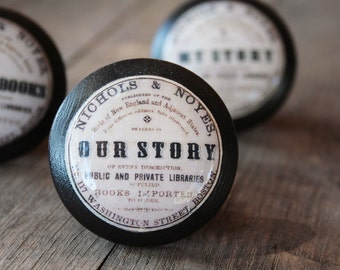 "Vintage Knobs The Books Series Newest Design - ""Our Story"""