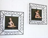 Vintage Mid Century Modern Display Frames