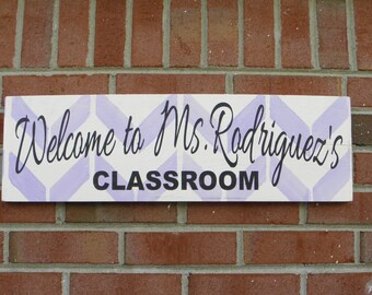 End of year gift for Teacher, Personalized Classroom Sign, custom teacher gift, Welcome sign